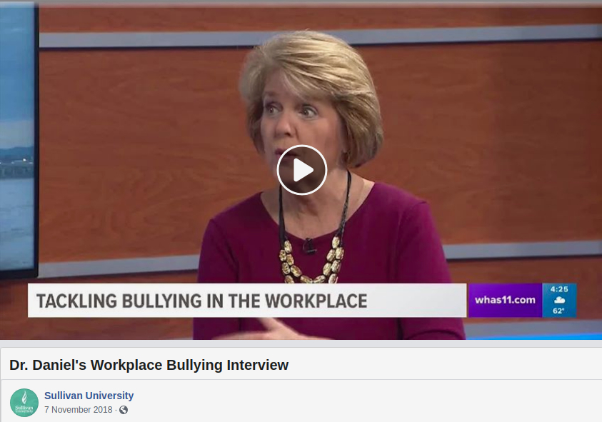 WHAS11 TV Interview, Dr. Teresa Daniel, Tackling Workplace Bullying, TV Interview, 2018 Nov 07